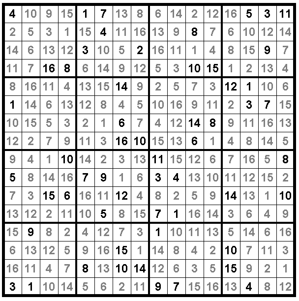 Number Place must be Beautiful