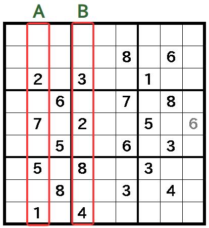 いきなりX,Wingが出てくるナンプレ問題(5)X,Wingさえわかれば後は超簡単