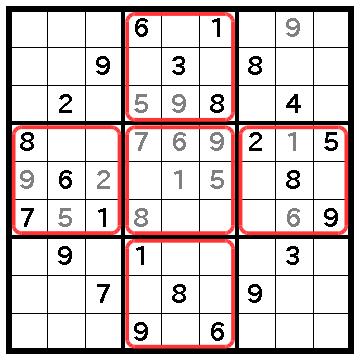 しつこいX,Wingの問題(2)不都合な配置の数字は無視しよう
